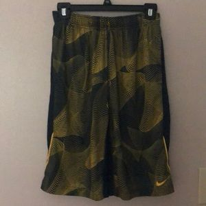 Nike navy and yellow athletic shorts-like new